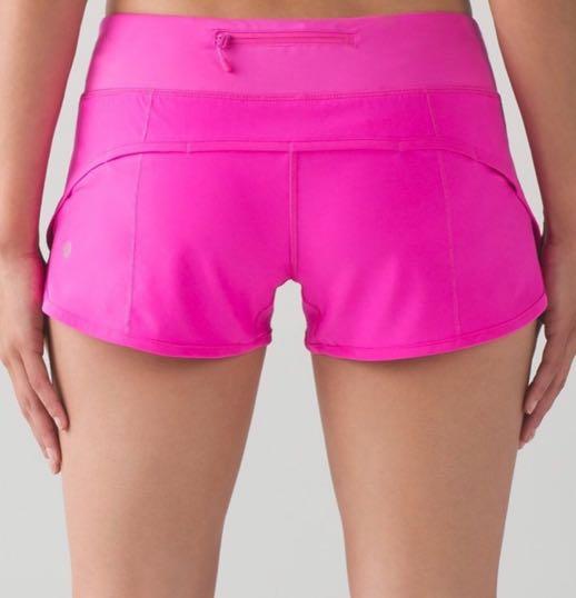 Lululemon Hot Pink Speed Up Short Curtsy