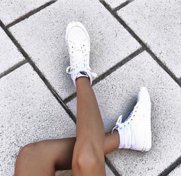 Vans White High Top