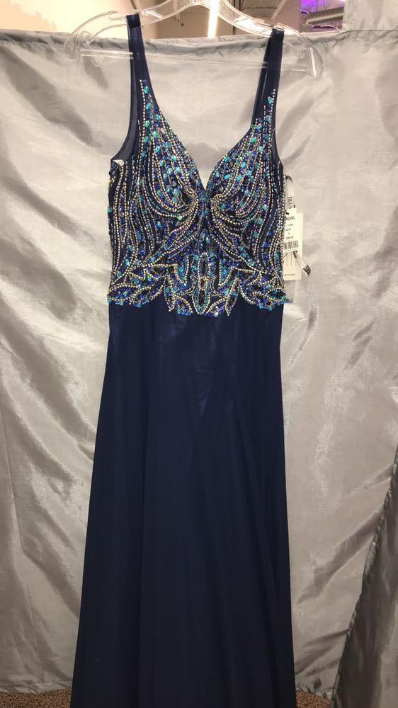 Blush Prom Navy Blue Prom Dress