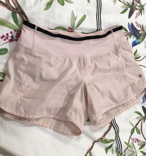 Lululemon Shorts 4 Sparkle Pink Curtsy