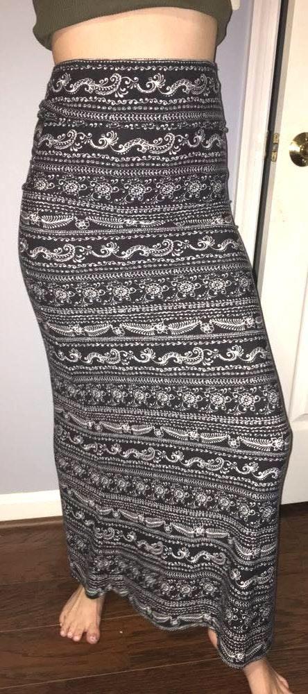 LA Hearts Maxi Skirt