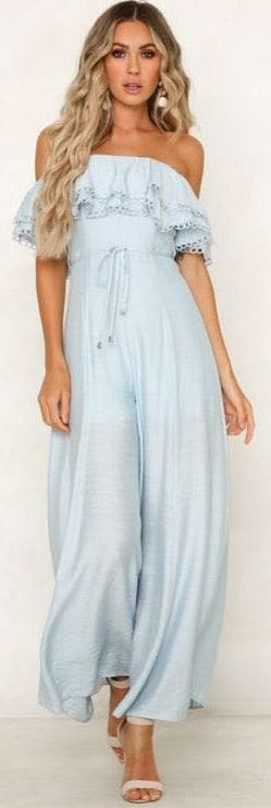 Hello Molly blue jumpsuit