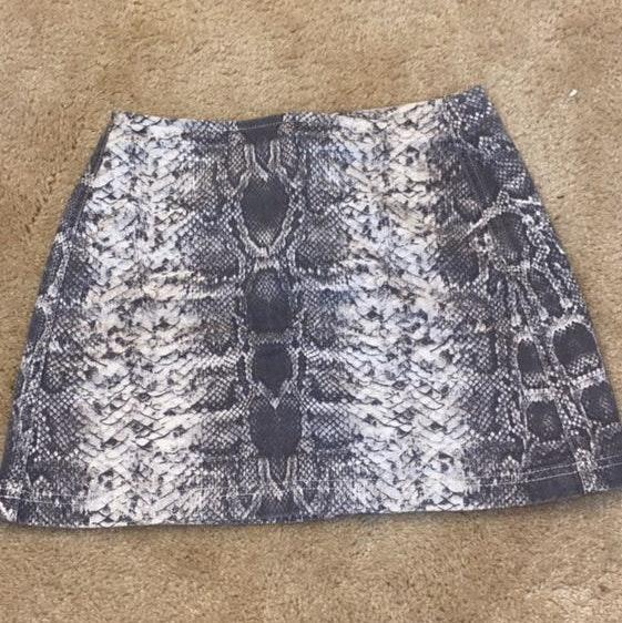 Urban Outfitters Snake Skin Print Skirt