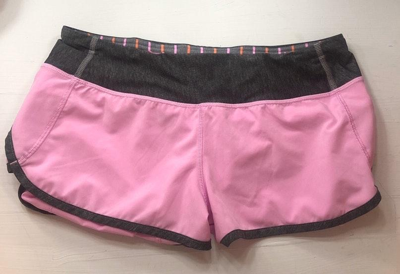 Lululemon Light Pink Speed Up Shorts Curtsy