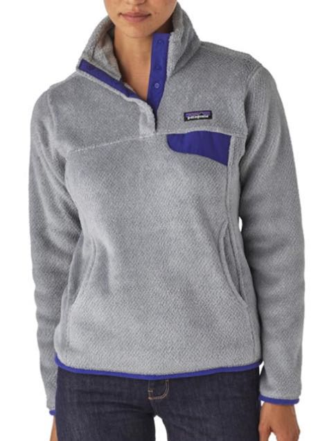 Patagonia Purple&Gray Fuzzy Pullover Jacket