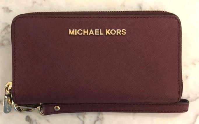 Michael Kors Wine Colored Wrist Wallet