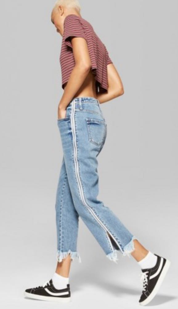 Wild Fable High Rise Ankle Jeans w Side Zippers