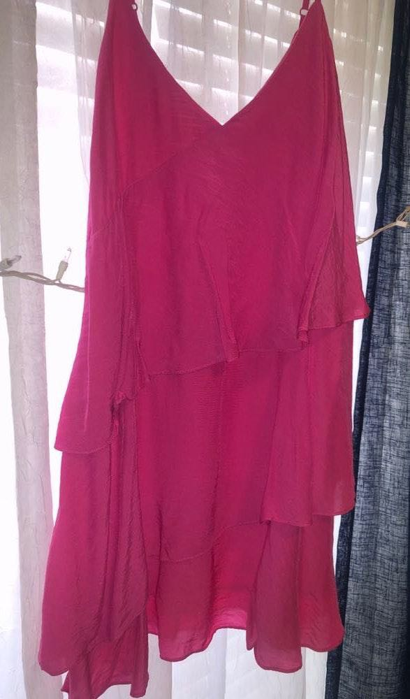 DO+BE Tearing Up My Heart Hot Pink Dress