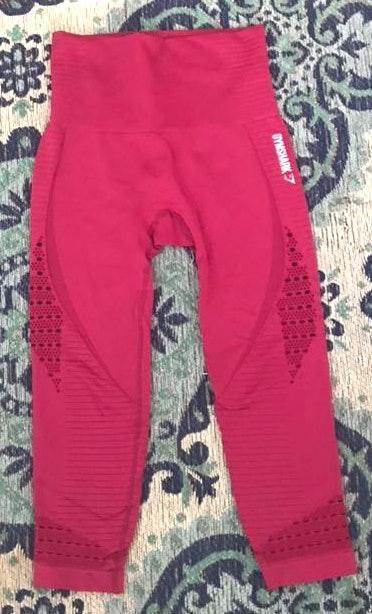 Gymshark Energy+Seamless Crop Maroon Legging