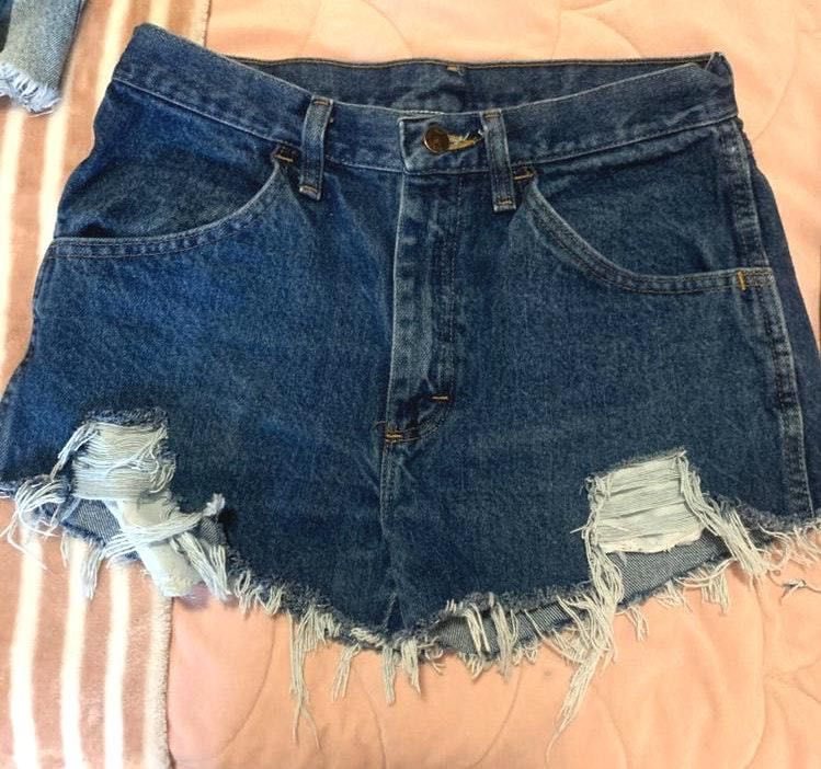 Hand Distressed Shorts