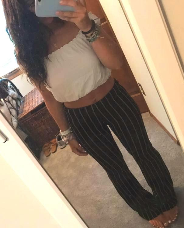 Forever 21 Striped Fun Pants