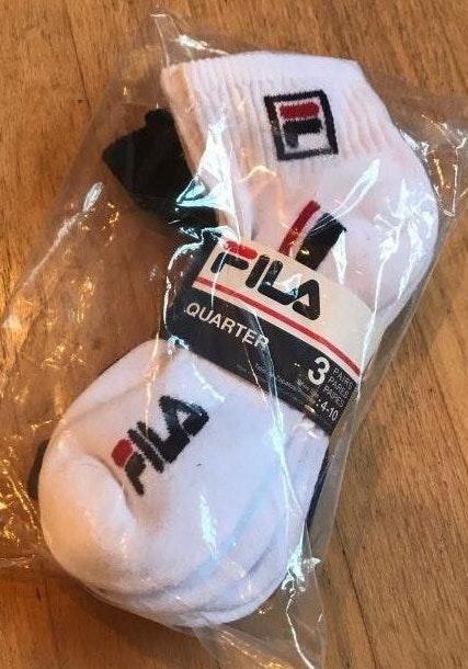 FILA Three Pack Ankle Socks