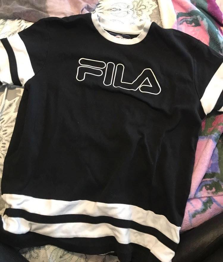 FILA white and black tee