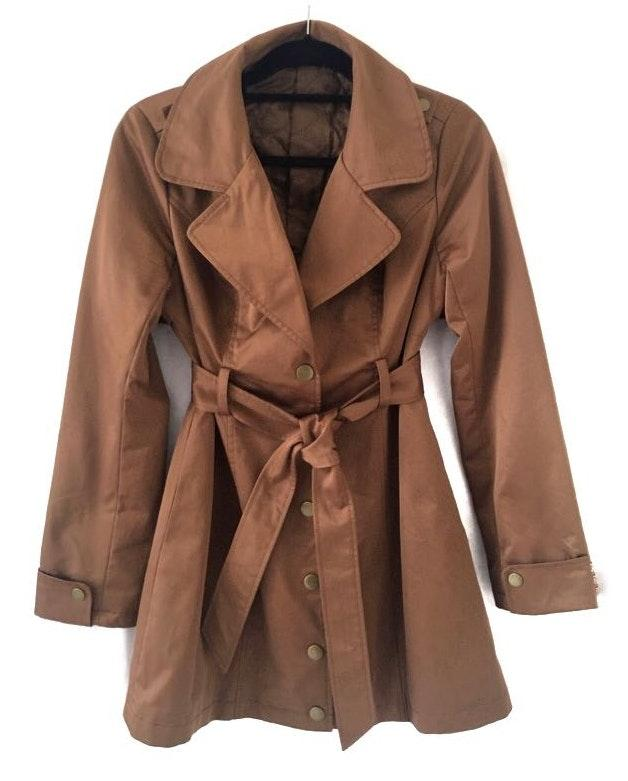 NWOT Private Designer Brand Brown Trench Coat
