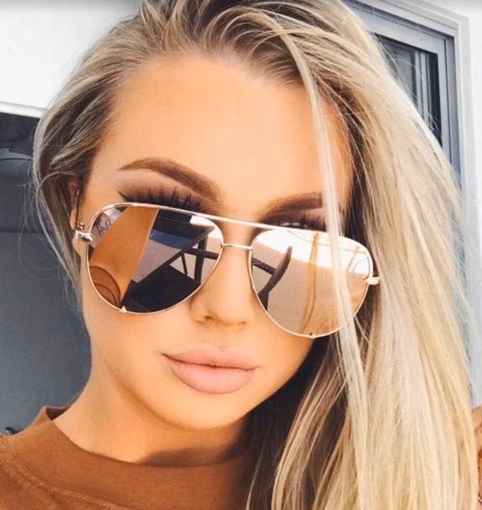 ray ban aviators gold mirror lenses