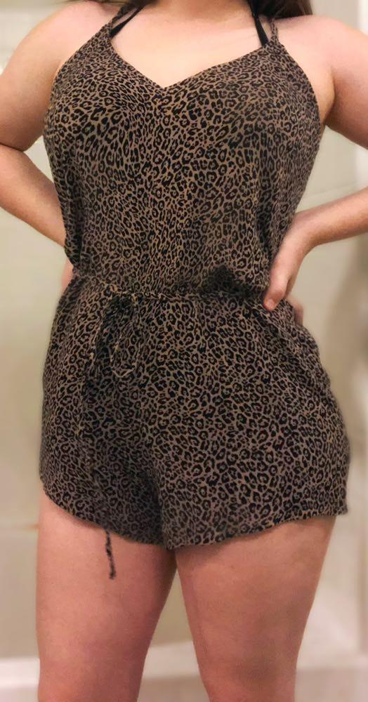 American Eagle Outfitters leopard print romper