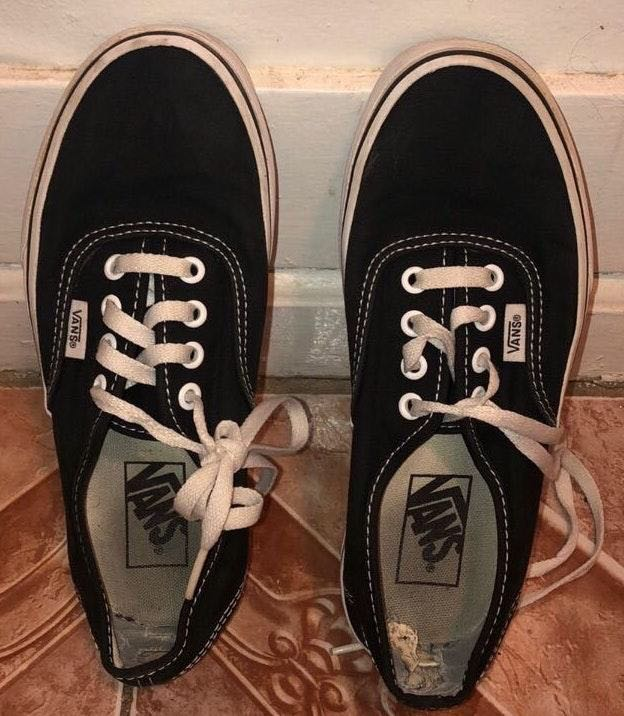 Vans Authentic Black And White Men 5 Women 6.5