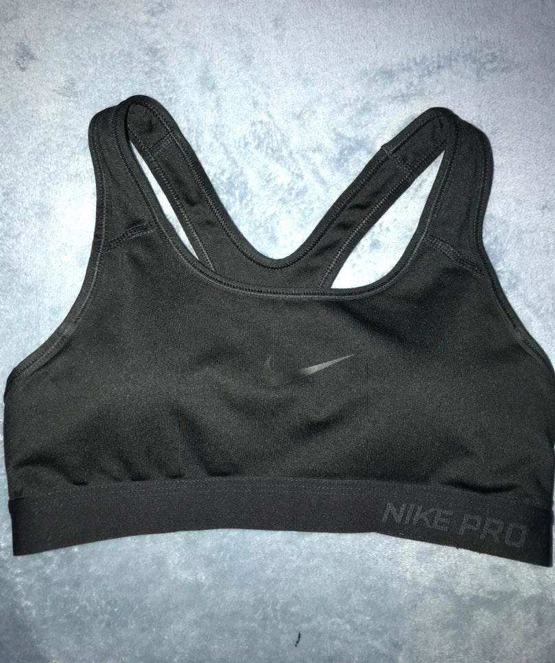Nike Black Dri Fit Sports Bra Curtsy