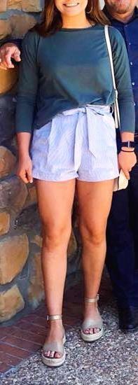 LUNIK High Waisted Pinstripe Shorts