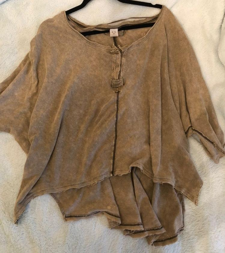 Free People Olive Green Henley