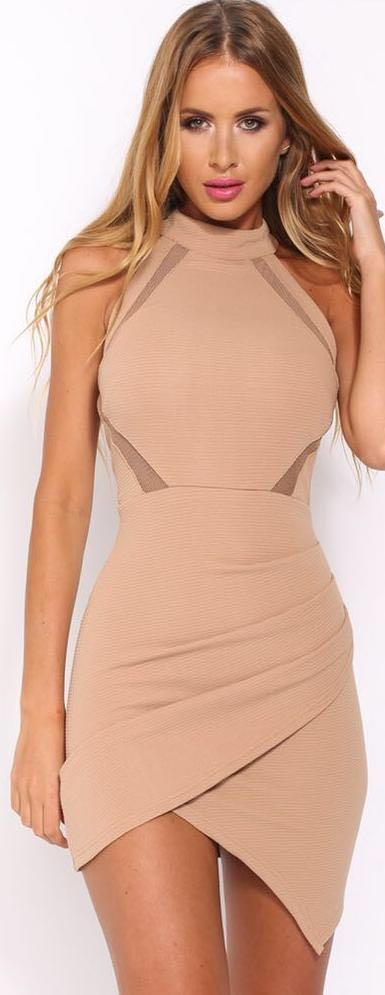 Hello Molly Mocha Tight Dress