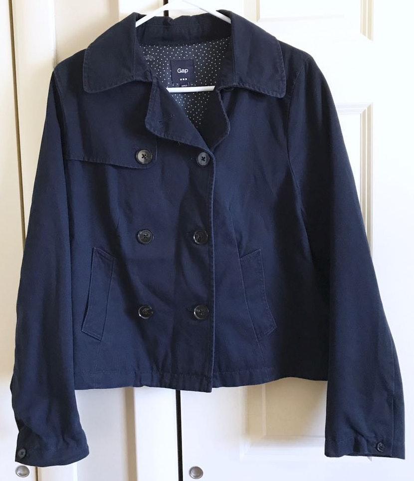 Gap Twill Navy Blue Jacket / Peacoat