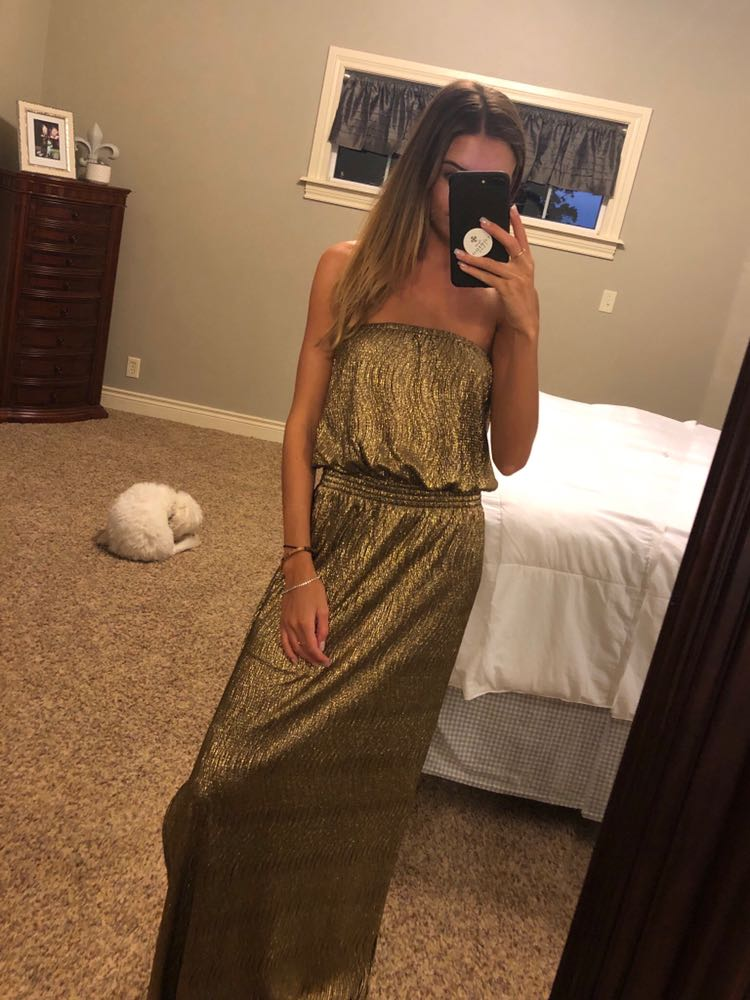 Gianni Bini Gold Formal Dress