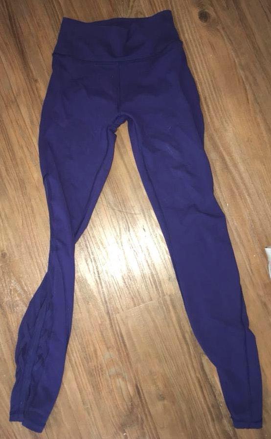 Lululemon Lulu Leggings Blue Purple Mesh