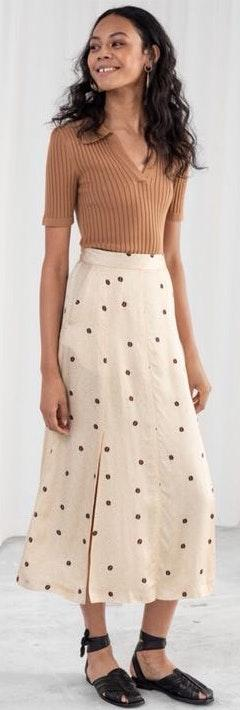 & Other Stories Two Side Slit Skirt