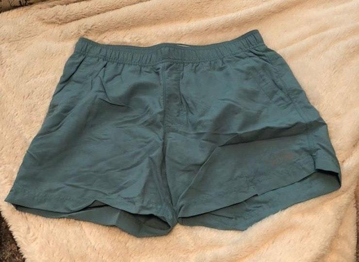 The North Face blue outdoor shorts
