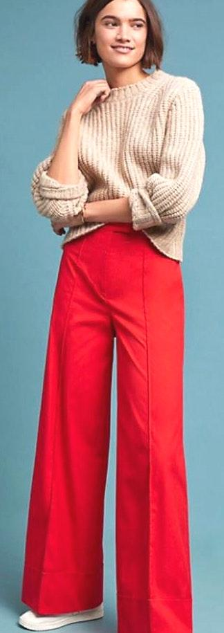 Anthropologie NWT $130  Poplin Wide Leg Pants 2