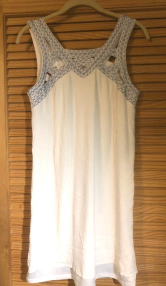 Maurice's White Embroidered Summer Dress