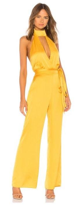 LPA Yellow Halter jumpsuit