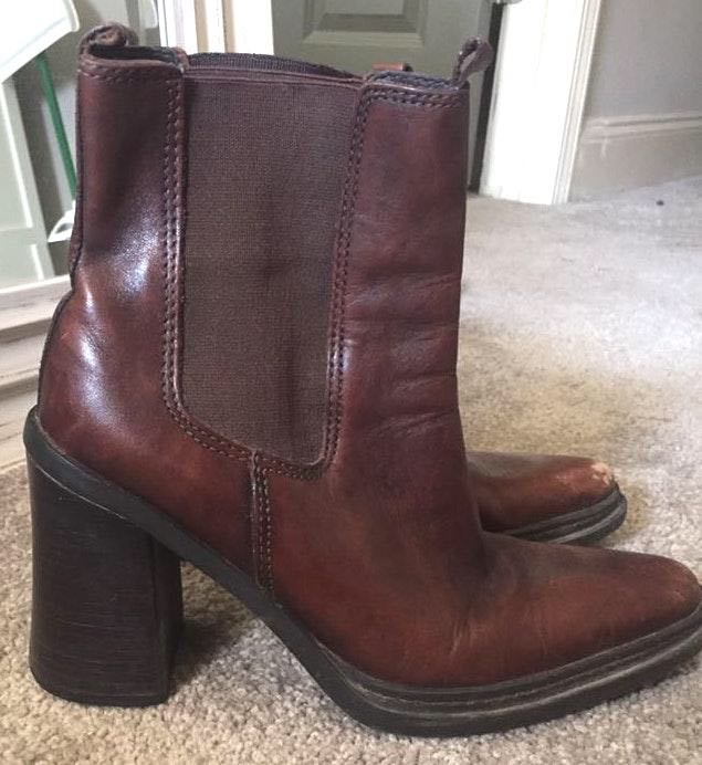 MIA Brown Leather Booties