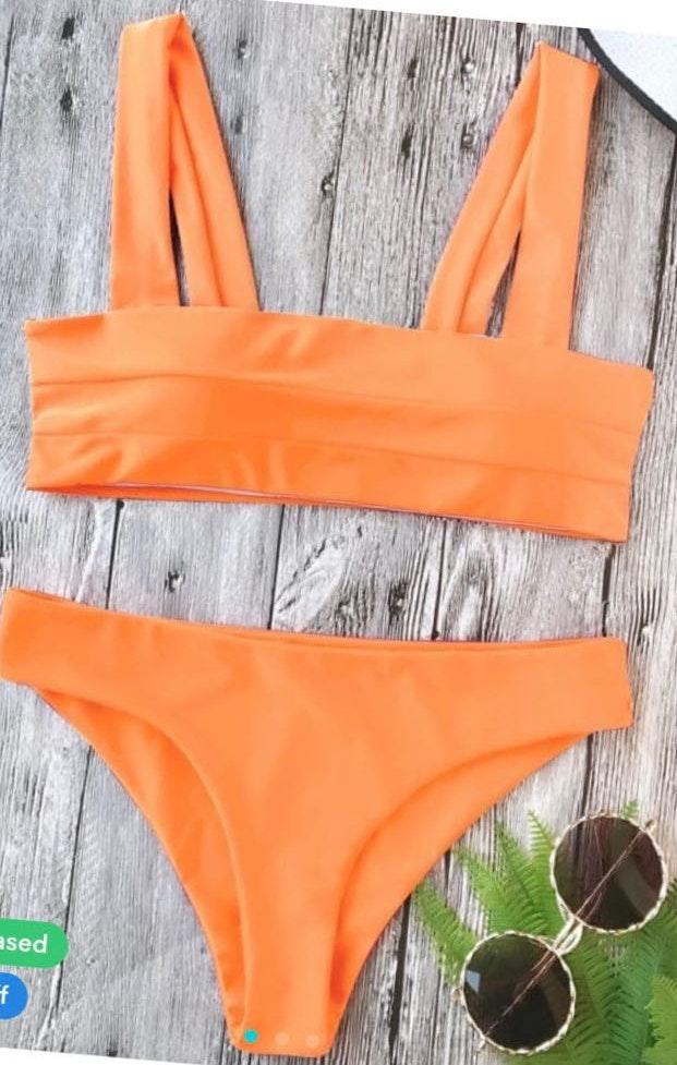 Zaful Neon Orange Bikini
