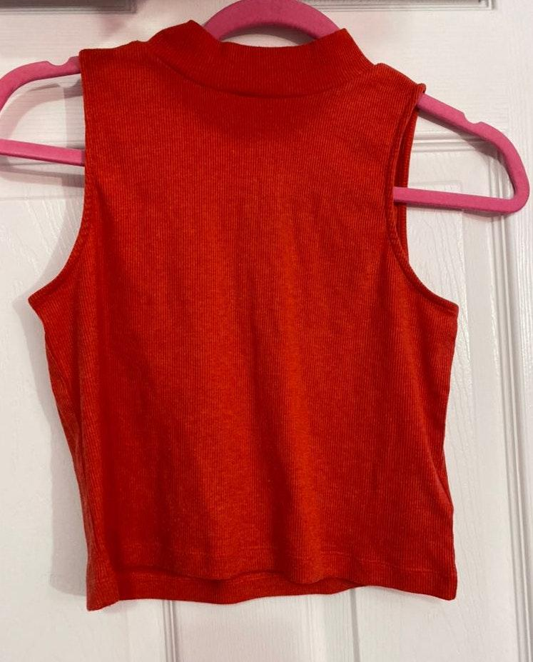 Divided Red Crop Top