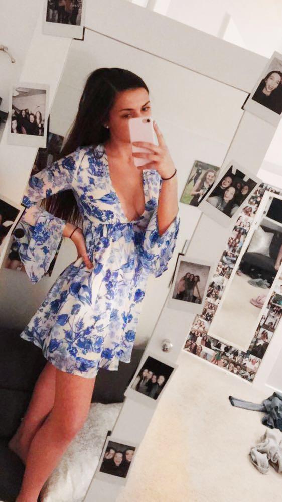 South Moon Under Blue Mini Dress