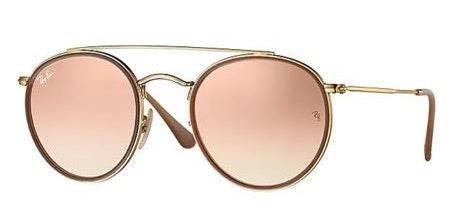 Ray-Ban Rose Gold Reflecting Sunglasses