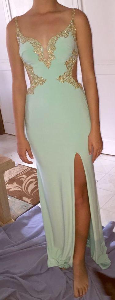 La Femme Sweetheart Light Mint Formal Dress