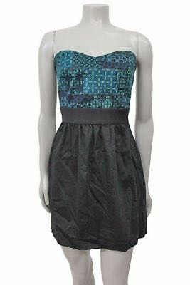 Ecote Urban Outfitters Green Geometric Print Dress