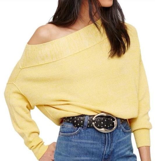 Free People Alana Off The Shoulder Pullover