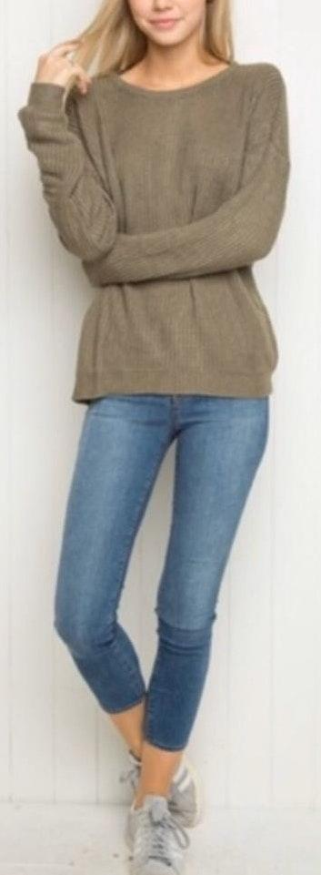 Brandy Melville Ollie Green Sweater