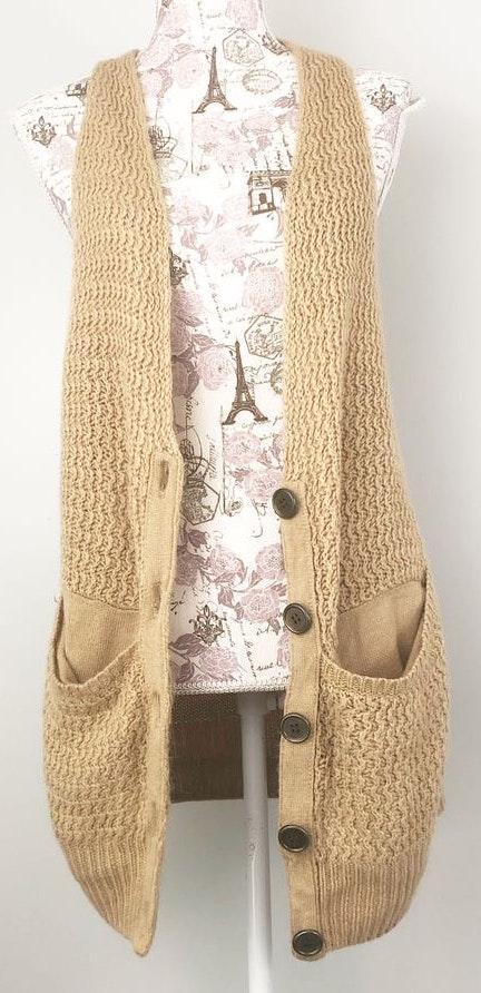 Arden B Long Wool Blend Vest
