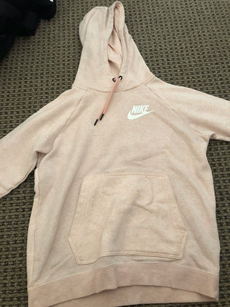 later available cheap for discount Nike Light Pink Hoodie | Curtsy