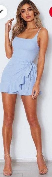 White Fox Boutique light blue dress