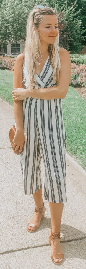 Molly and zoey Striped jumpsuit