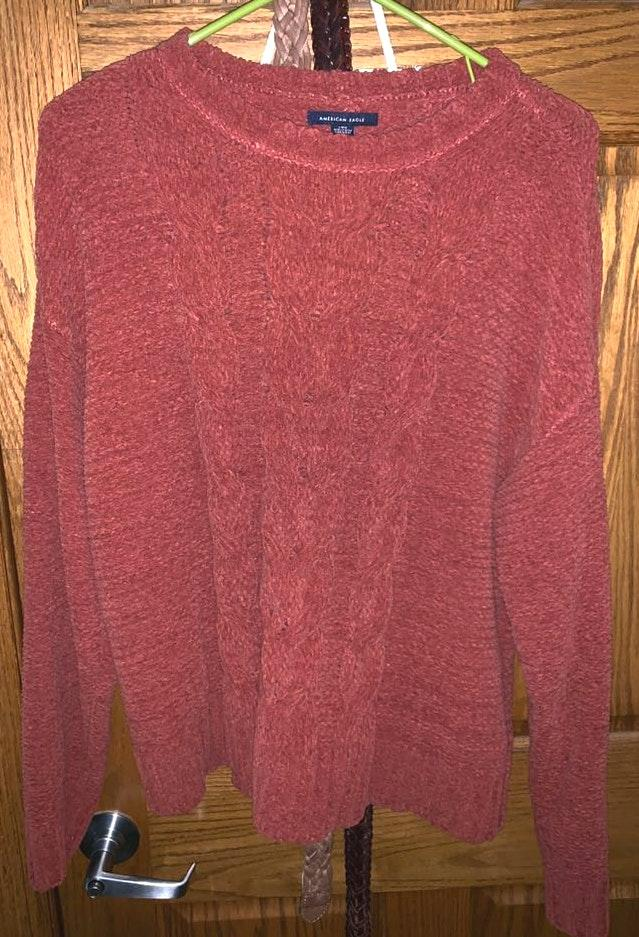 American Eagle Outfitters Rust Orange Sweater