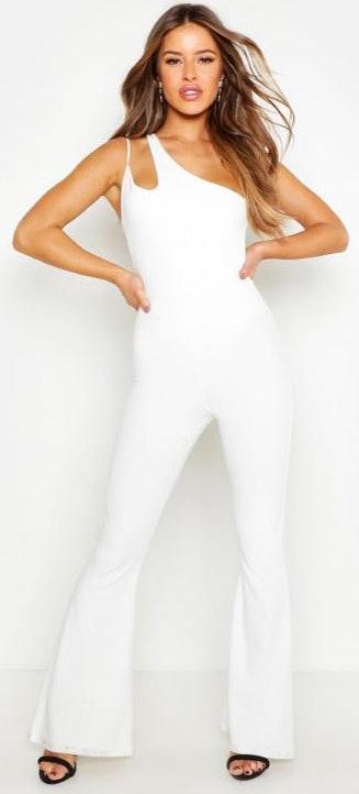 Boohoo White Jumpsuit