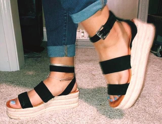 American Eagle Outfitters Espadrille Platform Sandals