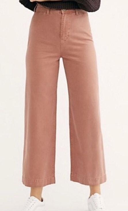 Free People Wide Leg Pants Curtsy